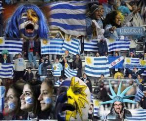 Fans von Uruguay, Argentinien 2011 puzzle