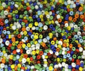 Farbige Perlen puzzle