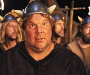 Faxe, die Viking mit größeren Appetit, der größte und stärkste der Wikinger in Flake puzzle