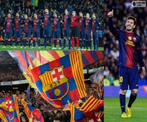FC Barcelona, meister 2012-2013 puzzle