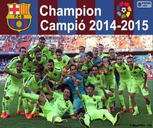 FC Barcelona, meister 2014-2015 puzzle