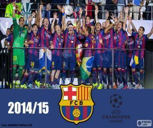 FC Barcelona Meister Champions League 14-15 puzzle
