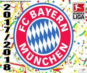 FC Bayern München, Bundesliga 2017-2018 puzzle