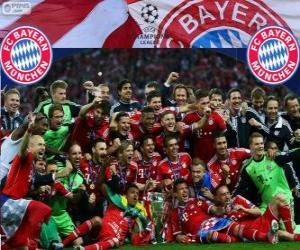 FC Bayern München, Meister der UEFA Champions League 2012–13 puzzle
