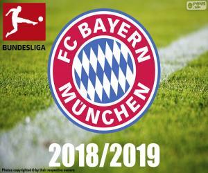 FC Bayern München, Meister 2018-2019 puzzle