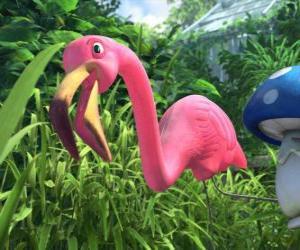 Featherstone, eine einsame flamingo puzzle