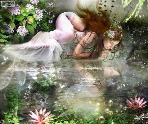 Fee Ondina, sind aquatische Nymphen von spektakulärer Schönheit puzzle