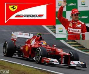 Felipe Massa - Ferrari - Grand Prix von Brasilien 2012, 3. klassifiziert puzzle