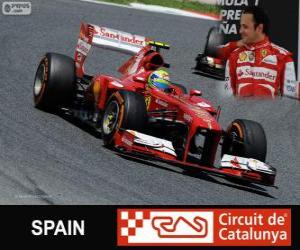 Felipe Massa - Ferrari - Grand Prix von Spanien 2013, 3. klassifiziert puzzle