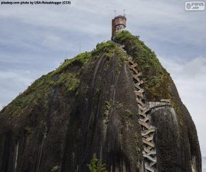 Fels von Guatapé oder der Fels von El Peñol puzzle