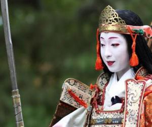 Female Samurai, Krieger Frau mit Katana puzzle
