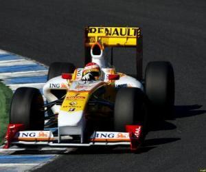 Fernando Alonso der seinen F1 puzzle
