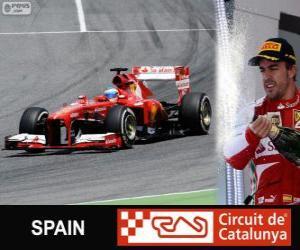 Fernando Alonso feiert seinen Sieg in der Grand Prix von Spanien 2013 puzzle
