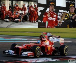 Fernando Alonso - Ferrari - 2012 Abu Dhabi Grand Prix, 2 Nd klassifiziert puzzle