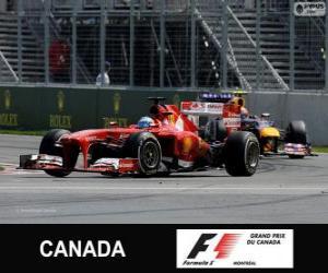 Fernando Alonso - Ferrari - 2013 Kanada Grand Prix, 2 º klassifiziert puzzle