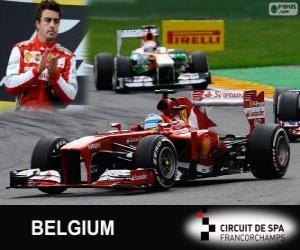 Fernando Alonso - Ferrari - 2013 Belgian Grand Prix, 2 º klassifiziert puzzle