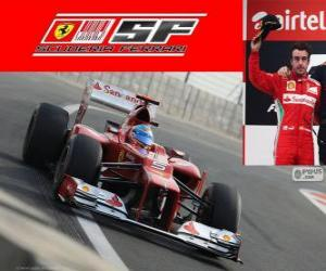 Fernando Alonso - Ferrari - Grand Prix des Indien 2012, 2. klassifiziert puzzle