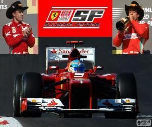 Fernando Alonso - Ferrari - Grand Prix der USA 2012, 3. klassifiziert puzzle