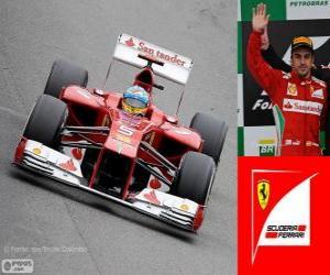 Fernando Alonso - Ferrari - Grand Prix von Brasilien 2012, 2 º klassifiziert puzzle