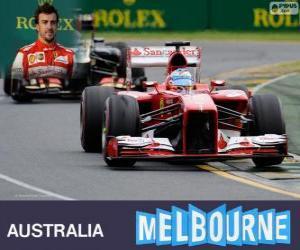 Fernando Alonso - Ferrari - Grand Prix von Australien 2013, 2 º klassifiziert puzzle