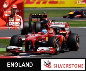Fernando Alonso - Ferrari - Grand Prix von Großbritannien 2013, 3. klassifiziert puzzle