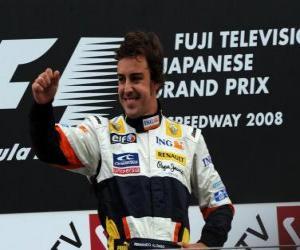 Fernando Alonso im pódium puzzle