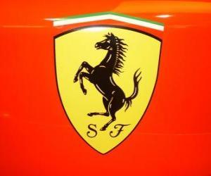 Ferrari-Logo, italienischen Sportwagen-Marke puzzle