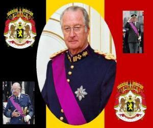 Festtag des Königs, eine Zeremonie zu Ehren des Königs von Belgien, 15 November. Wappen von Belgien puzzle