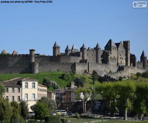 Festungsstadt Carcassonne, Frankreich puzzle