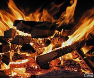 Feuer im Kamin puzzle