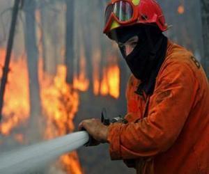 Feuerwehrmann in Aktion puzzle