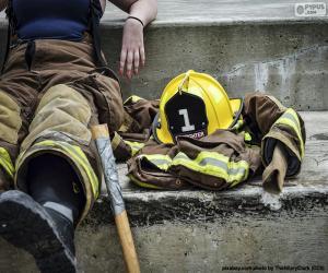 Feuerwehrmann ruht puzzle