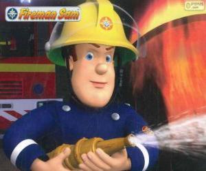 Feuerwehrmann Sam mit dem Schlauch puzzle