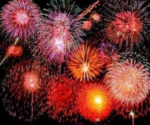 Feuerwerk zur Feier der Silvesternacht puzzle