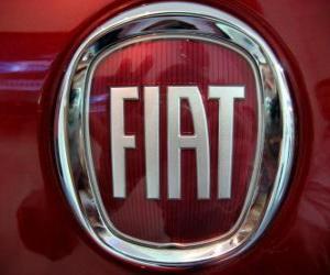 FIAT-Logo, italienische Automarke puzzle