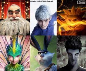 Figuren aus Die Hüter des Lichts puzzle