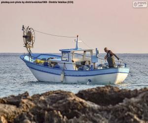 Fischerboot auf See puzzle