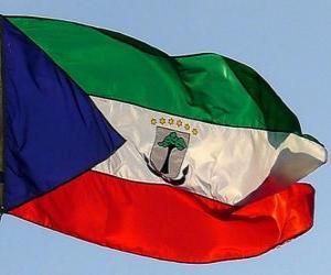 Flagge Äquatorialguineas puzzle