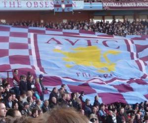 Flagge der Aston Villa FC puzzle