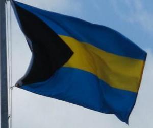 Flagge der Bahamas puzzle