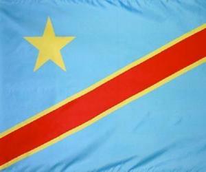Flagge der Demokratischen Republik Kongo puzzle