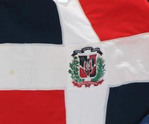 Flagge der Dominikanischen Republik puzzle