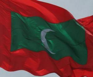 Flagge der Malediven puzzle