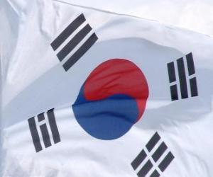Flagge der Republik Korea puzzle