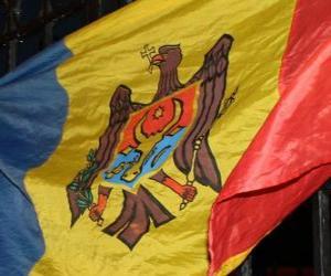 Flagge der Republik Moldau puzzle