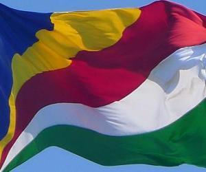 Flagge der Seychellen puzzle