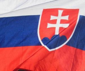 Flagge der Slowakei puzzle
