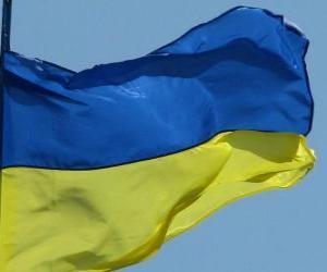 Flagge der Ukraine puzzle