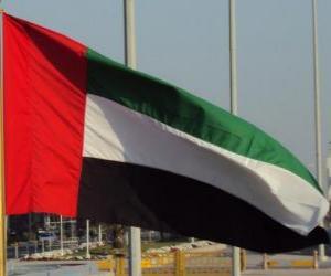 Flagge der Vereinigten Arabischen Emirate puzzle