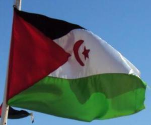 Flagge der Westsahara puzzle
